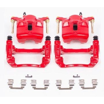 Power Stop S2698 Red Powder-Coated Performance Calipers -Front