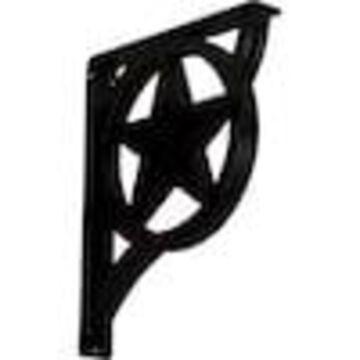 Ekena Millwork Austin 15-in x 2-in x 12-in Black Countertop Support Bracket