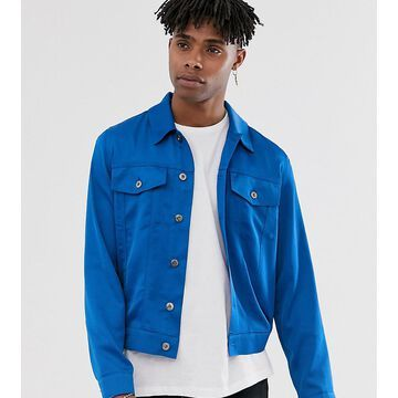 Heart & Dagger satin trucker jacket in blue