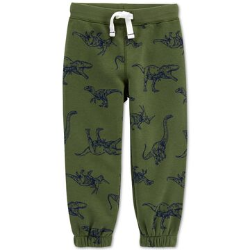 Toddler Boys Dinosaur-Print Fleece Pants