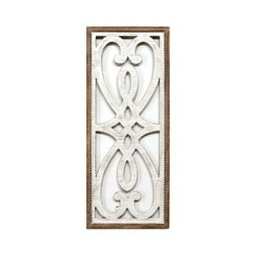Stratton Home Decor Heart and Fleur Wood Panel Wall Decor
