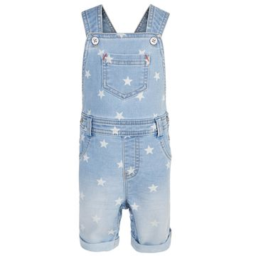 Baby Boys Star-Print Denim Shortalls, Created for Macy's