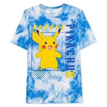 Pokemon Big Boys Pikachu Scream Tie-Dyed T-Shirt
