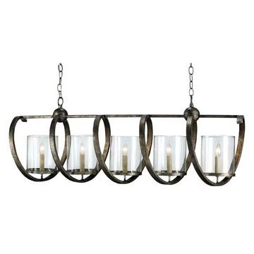 Currey and Company 9915 Maximus 5 Light Chandelier - Bronze