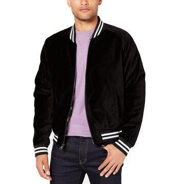 Tallia Mens Jacket Black Size XL Dragon Embroidered Varsity/Baseball