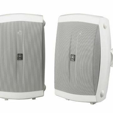 Yamaha NS-AW350W 2-Way Indoor Outdoor Home Audio Speakers Pair White NEW