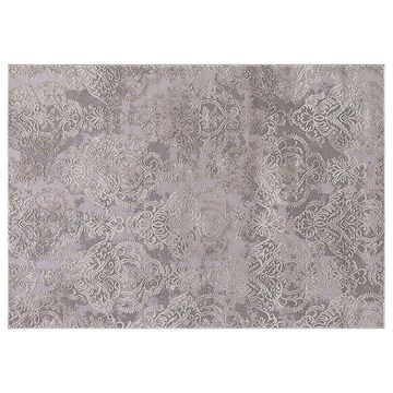 Concord Global Thema Lancing Damask Rug, Brt Red, 8X10.5 Ft