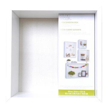 White Open Shadow Box by Studio Decor
