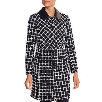 Karl Lagerfeld Paris Checked Coat