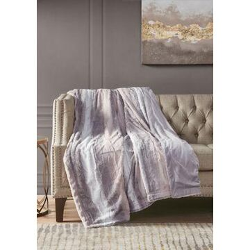 Madison Park Zuri Oversized Faux Fur Throw - -