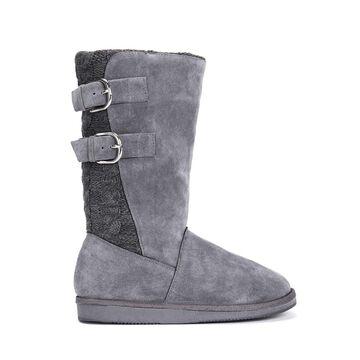 MUK LUKS Women's Jean Boots-Grey Fashion