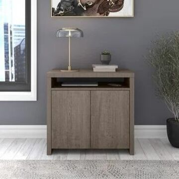 Bristol Accent Storage Cabinet with Doors in Gray by Bush Furniture