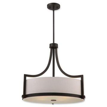 Filament Design Russet 4-Light 24-Inch Pendant Light in Bronze