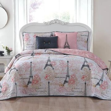 Avondale Manor Amour Quilt Set, Pink, King