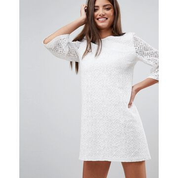 Fashion Union Lace Mini Dress With Tie Back
