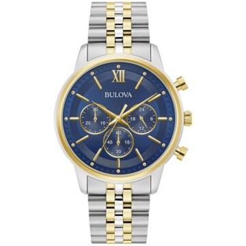 Bulova Men's Chronograph Two-Tone Stainless Steel Bracelet Watch 41mm