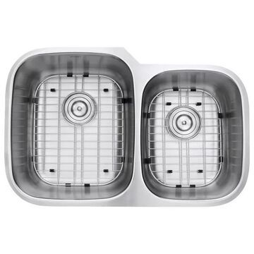 32-Inch Undermount 60/40 Double Bowl 16 Gauge Stainless Steel Kitchen