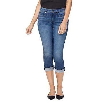 Nydj Marilyn Frayed Hem Cropped Straight Jeans