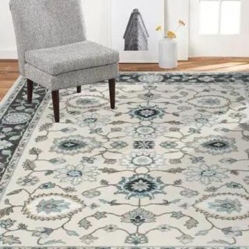 Home Dynamix Oxford Huron Traditional Damask Area Rug