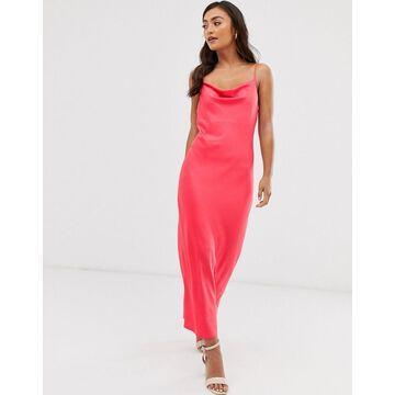 Miss Selfridge satin cami slip dress in pink