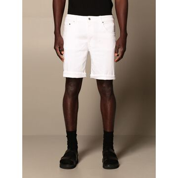 Derick Dondup Bermuda Shorts In Stretch Cotton Blend