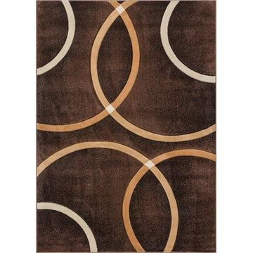 Well Woven Brooklyn Chester Modern Geometric Brown Area Rug