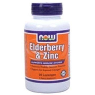 Elderberry and Zinc Zinc 30 LOZ by Now Foods
