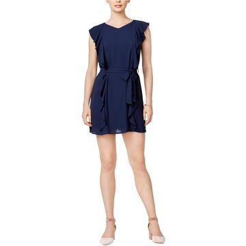 maison Jules Womens Ruffled A-line Dress