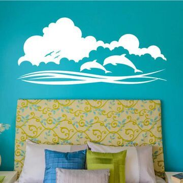 Style and Apply Dolphin Sky Wall Decal