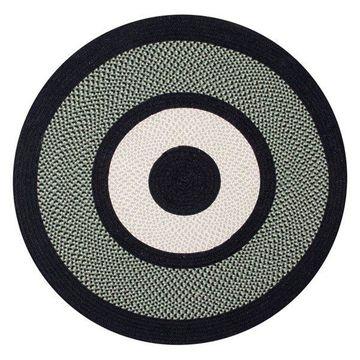 Better Trends Portland Wool Braid Rug, Green, 66