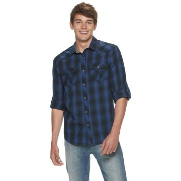 Men's Urban Pipeline Western Plaid Button-Down Shirt