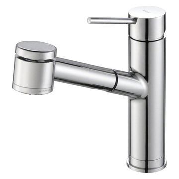 KRAUS Oletto Single Handle Pull Out Faucet, Chrome Finish