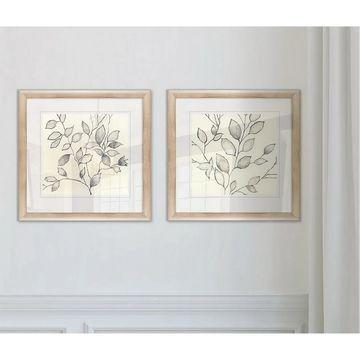 Wexford Home 'Whispering Leaves I' Framed Art Prints (Set of 2)