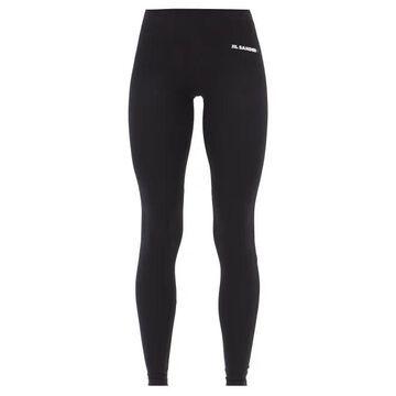 Jil Sander - Logo-print Stretch-jersey Leggings - Womens - Black