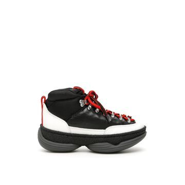 ALEXANDER WANG MOUNTAIN SNEAKERS 35 Black, White, Red Leather, Technical