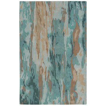 Liora Manne Corsica Waterfall Wool Rug, Blue, 3.5X5.5 Ft