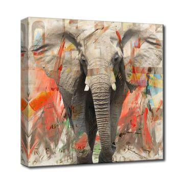 Ready2HangArt 'Saddle Ink Elephant I' Canvas Animal Art