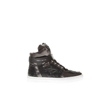 Frankie Morello Variante A Black Leather High Top Sneakers