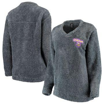 Minnesota Vikings Concepts Sport Women's Trifecta Pullover Sweatshirt Charcoal