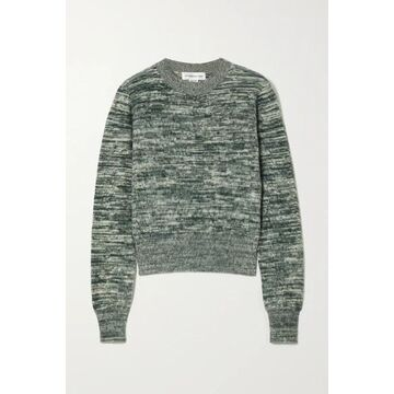 Victoria Beckham - Melange Brushed-cotton Sweater - Green