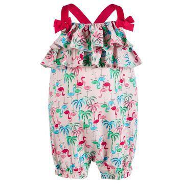 Baby Girl Flamingo Sunsuit