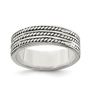 Versil Sterling Silver Antiqued Ring