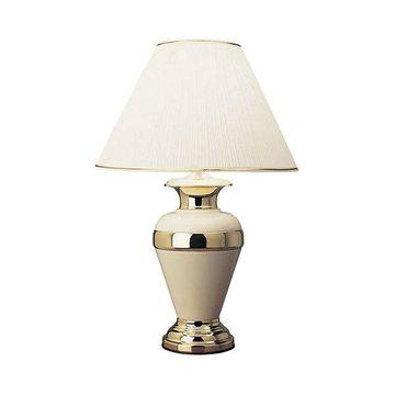 Ore International 32 Metal Lamp, Ivory