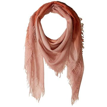 Chan Luu Shadow Dye Cashmere and Silk Scarf (Autumnal/Muted Clay) Scarves