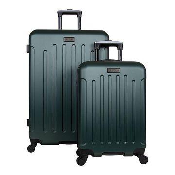 Heritage Lincoln Park 2-Piece Hardside 4-Wheel Spinner Luggage Set, Green