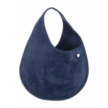 Suede Small Teardrop Bag Blue