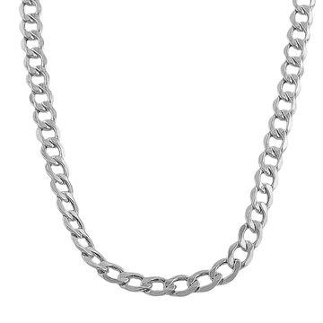 Fremada 10-karat White Gold 5.3mm Curb Chain (20-22 inch) (20-Inch)