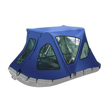 ALEKO Waterproof Winter Blue Tent for 10.5 ft Inflatable Boat
