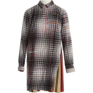 Marco De Vincenzo Grey Wool Dresses