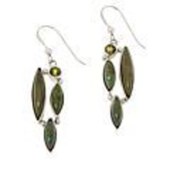 Mine Finds by Jay King No. 7 Yellow Turquoise and Peridot Earrings